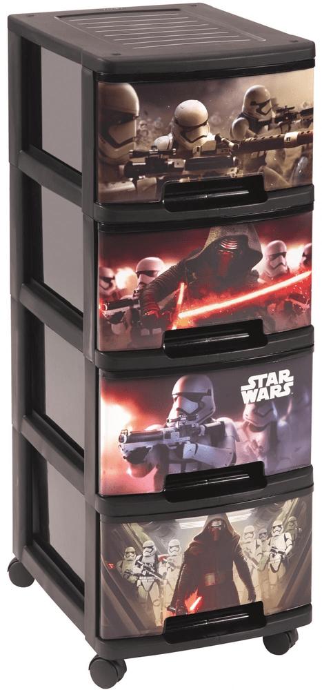 Curver Komoda se šuplíky Star Wars, 4x 10 l