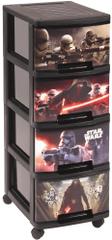 CURVER komoda na kółkach Star Wars, 4 x 10 l