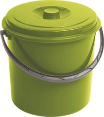 CURVER Wiadro z pokrywą 16 l, zielone