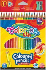 Pastelky trojhranné Colorino 18 barev (1 fluo )