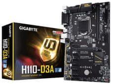 Gigabyte osnovna plošča GA-H110-D3A LGA1151 ATX Mining
