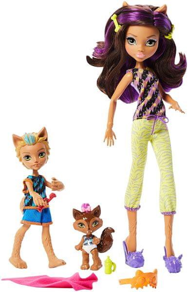 Mattel Monster High Sourorozenci 2 ks Family Clawdeen Wolf