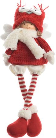 Kaemingk Karácsonyi dísz figura gyerekek fehér/piros