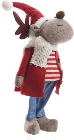 Kaemingk Karácsonyi figura  rénszarvas/fiú 9 cm