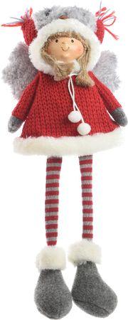 Kaemingk Karácsonyi dísz figura gyerekek szürke/piros