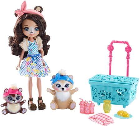 Mattel Enchantimals Lalka + zwierzątka Zestaw Niedźwiadkowy Piknik
