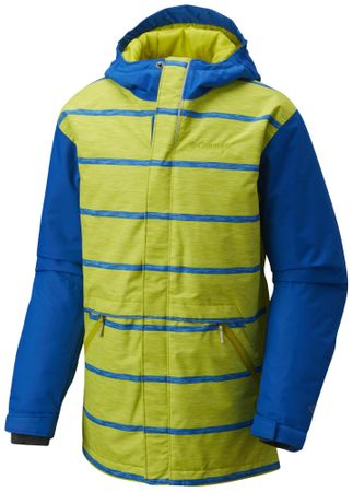 COLUMBIA kurtka narciarska Slope Star Jacket Super Blue Spacedye Stripe XL