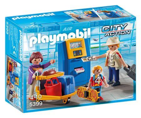 Playmobil 5399 Család a check-in pultnál