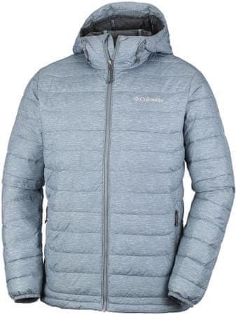 COLUMBIA kurtka zimowa Powder Lite Hooded Jacket Grey Ash Print S