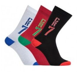 CR7 nogavice za dečke, 3 kosi, št. 35-39 (8470-80-406)