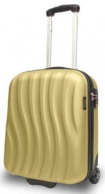 Travel and More potovalni kovček, 50 x 10 x 20 cm, 32 L, zlat/črn