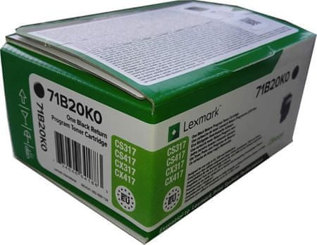 Lexmark toner 71B20K0, črn