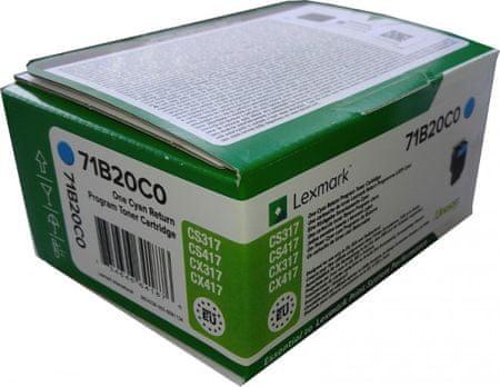 Lexmark toner 71B20C0, cyan