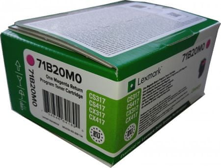 Lexmark toner 71B20M0, magenta