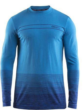 Craft moška majica z dolgimi rokavi Wool Comfort, modra, M