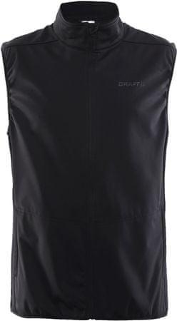 Craft moška majica brez rokavov Vesta Warm, črna, S