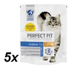 Perfect fit granuly Indoor s kuracím mäsom 5x750g