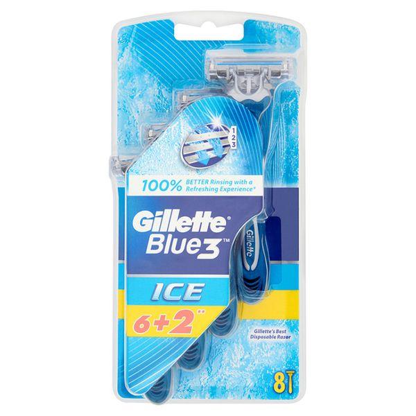 Gillette Blue3 Ice jednorázová holítka 6 +2 ks