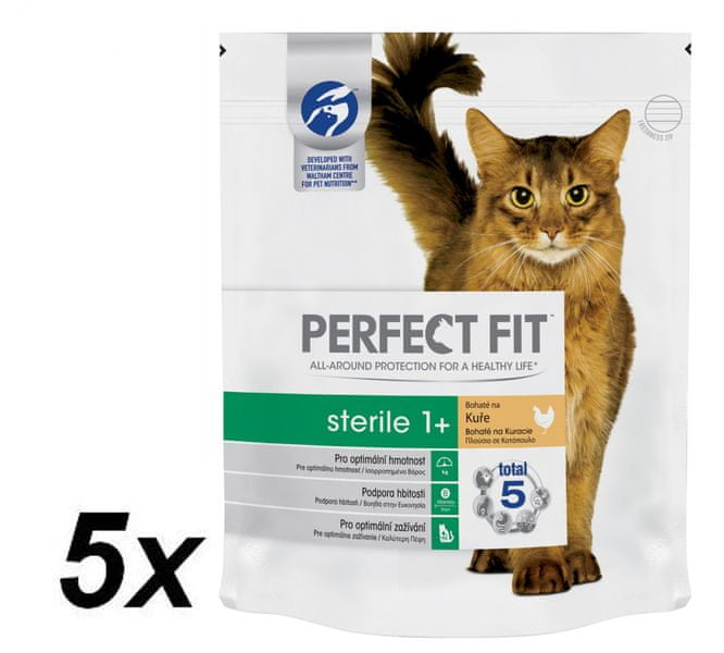 Perfect fit granule Sterile s kuřecím masem 5x750g