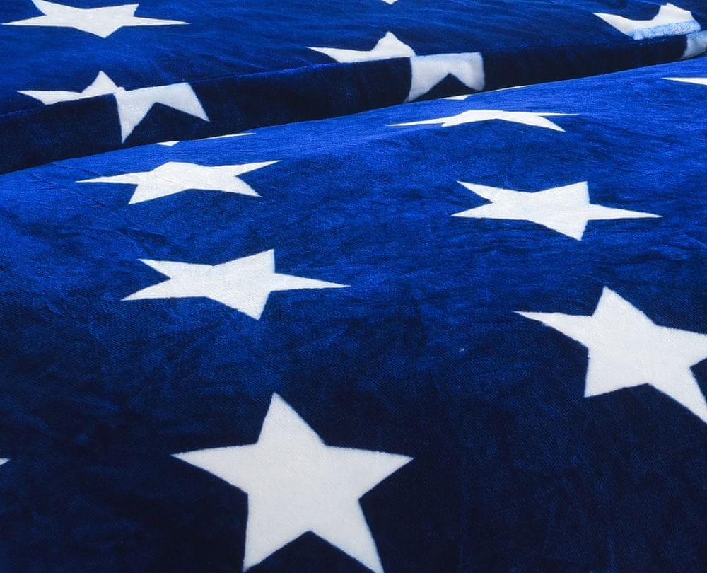 Jahu povlečení mikroplyš Stars blue
