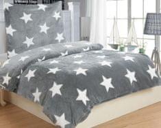 Jahu posteljnina Stars, siva