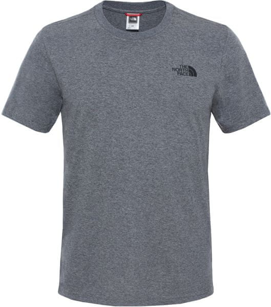 The North Face M S/S Simple Dome Tee Tnf Me Grey He XXL