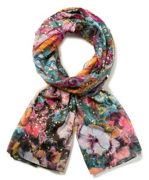 Desigual dámský růžový šátek Foulard