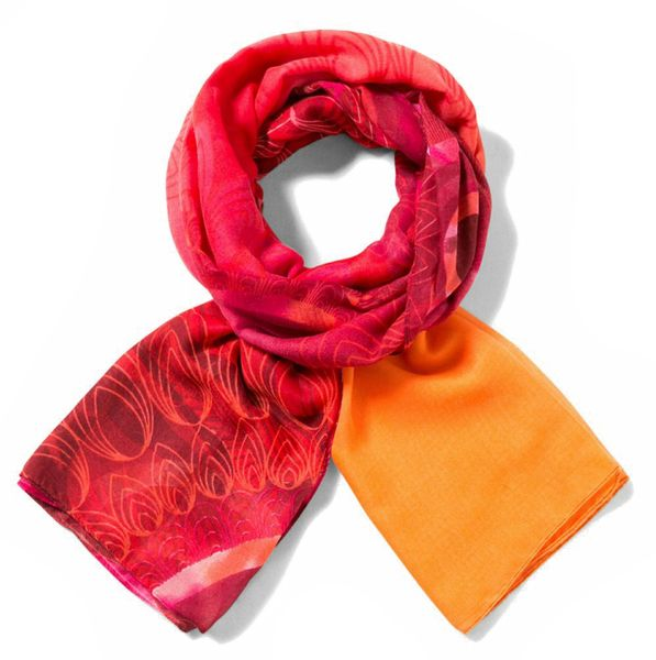 Desigual dámský červený šátek Foulard