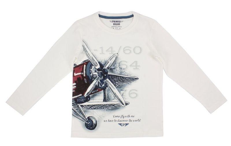 Primigi chlapecké tričko bílá 140