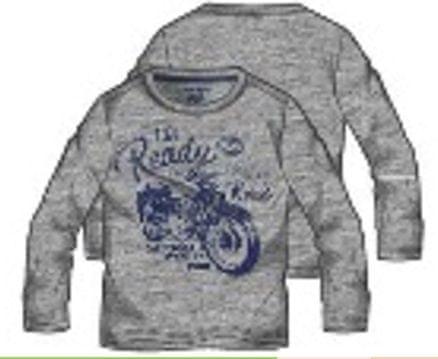 Primigi chlapecké tričko šedá 140
