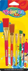 Štětce s plastovými držadly Colorino JUMBO sada 5 kusů