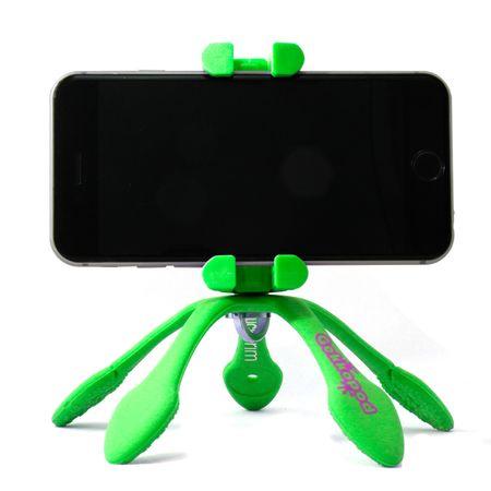 GekkoPod prenosno stojalo, zeleno + Bluetooth daljinski upravljalnik