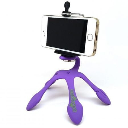 GekkoPod prenosno stojalo, vijolično + Bluetooth daljinski upravljalnik
