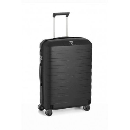 Roncato kovček 4k Box, srednji, 80 L, črn/črn