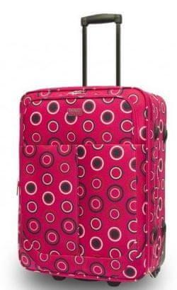 Travel and More potovalni kovček, 62 x 45 x 26 cm, roza pike