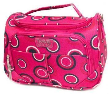 Travel and More kozmetični kovček, roza pike