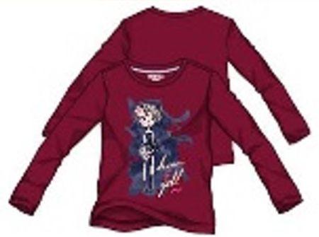 Primigi dívčí tričko vínová 98