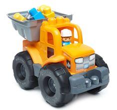 MEGA BLOKS Ciężarówka 2w1, pomarańczowa