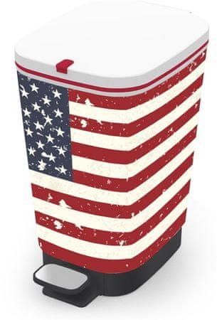 Kis kosz na odpady Chic Bin M 35 l, american flag