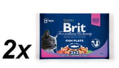 Brit Premium Cat Pouches Fish Plate 2x400g