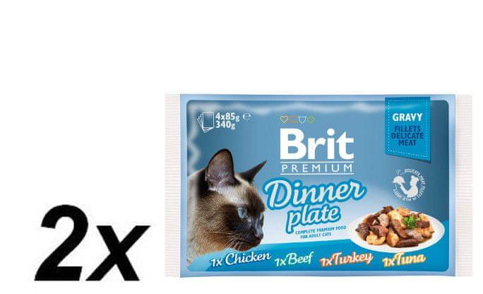 Brit Premium Cat Delicate Fillets in Gravy Dinner Plate 2x340g