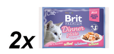 Brit Premium Cat Delicate Fillets in Jelly Dinner Plate 2x340g
