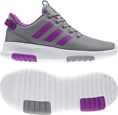 1813f06b606 Adidas CF Racer Tr K Grey Three Shock Purple Footwear White 32