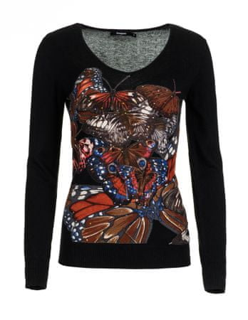 Desigual ženski pulover Mery S črna