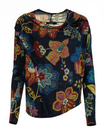 Desigual ženski pulover Celia L temno modra