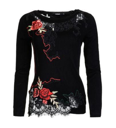 Desigual sweter damski Sorpresa XL czarny