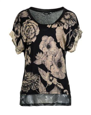 Desigual T-shirt damski Irisa M czarny