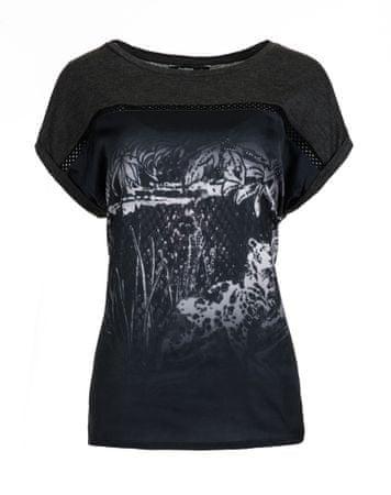 Desigual ženska majica Leopard Degrade S siva