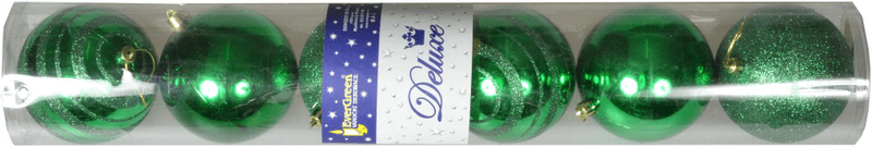 EverGreen Vánoční ozdoby koule 6 ks, zelená