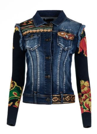Desigual ženska jakna Cuca 42 temno modra